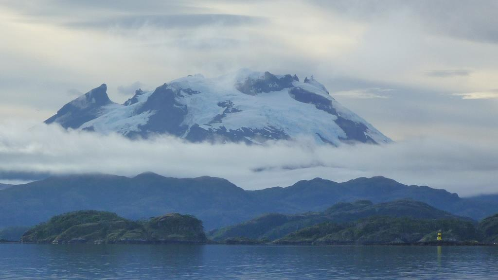 Glacier and mountains in Patagonia
